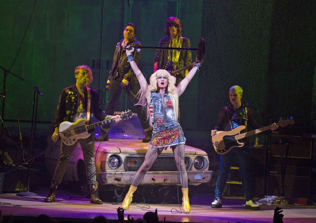 Neil Patrick Harris as Hedwig with the band in Broadway's Hedwig and the Angry Inch. Photo: Joan Marcus