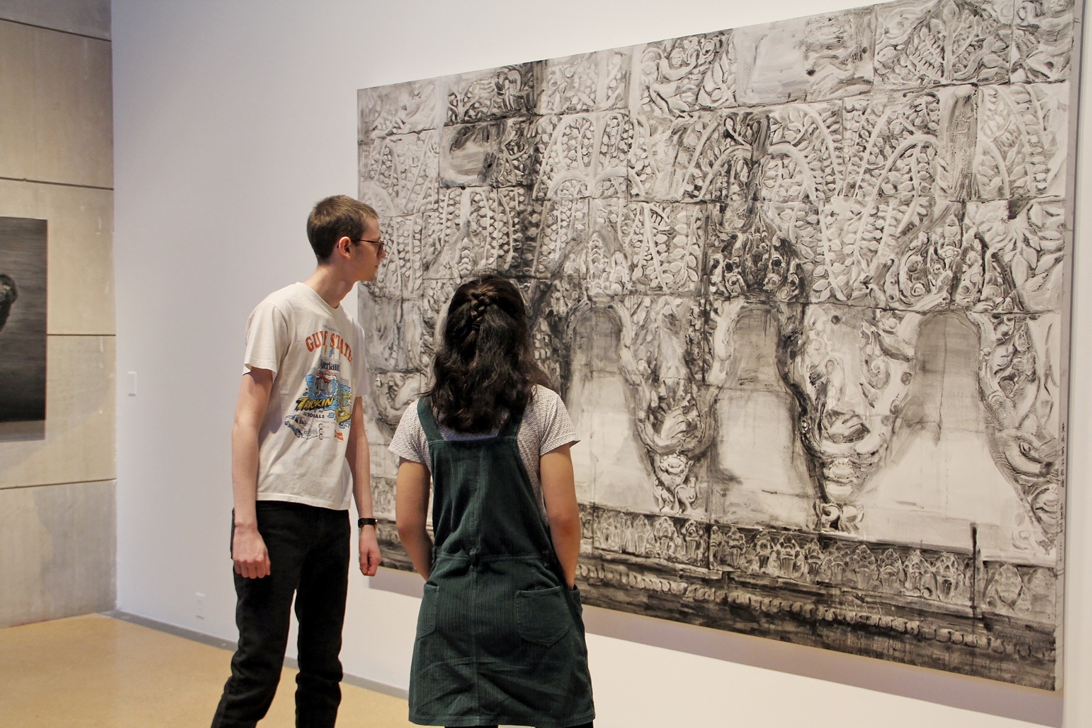 We Chat: A Dialogue in Contemporary Chinese Art, the first gallery exhibition highlighting artists born after the Cultural Revolution, offered a variety of academic opportunities. Photo by Olivia Drake MALS '08.