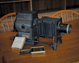 "Bausch & Lomb ""Balopticon"" Lantern Slide Projector. The PowerPoint of the early 20th century, this device was used to illustrate astronomy lectures with lantern slides projected on a screen. Photo by John Van Vlack."